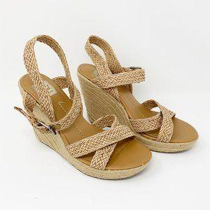 Dolce Vita Woven Jute Wedge Sandals 8